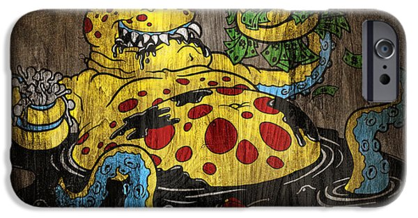 Kyle Wood iPhone Cases - Greedy Oil iPhone Case by Kyle Wood