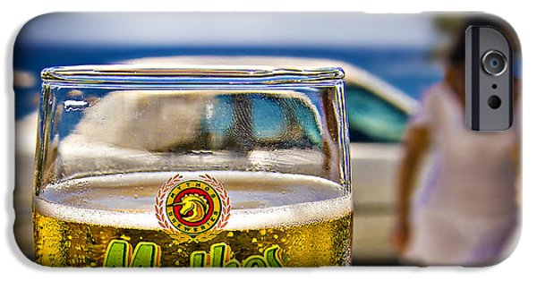 Greece iPhone Cases - Greek Beer Goggles iPhone Case by Meirion Matthias