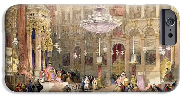 Sepulchre Drawings iPhone Cases - Greek Church Of The Holy Sepulchre iPhone Case by David Roberts