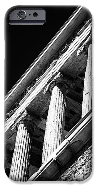 Temple Of Athena Nike iPhone Cases - Greek Columns iPhone Case by John Rizzuto