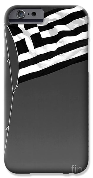 Greek School Of Art iPhone Cases - Greek Flag iPhone Case by John Rizzuto