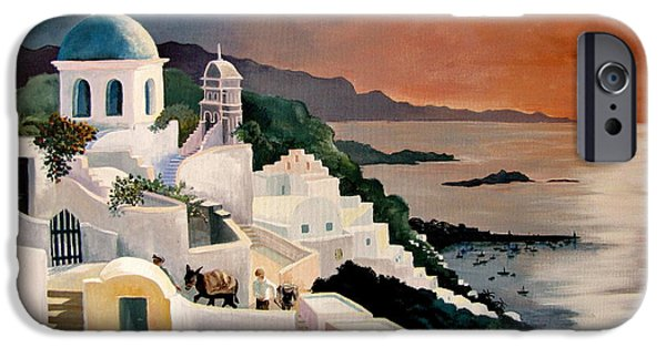 Marilyn Smith Paintings iPhone Cases - Greek Isles iPhone Case by Marilyn Smith