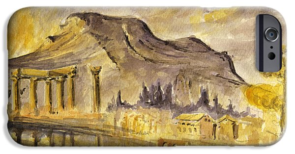 Ancient Ruins iPhone Cases - Greek ruins iPhone Case by Juan  Bosco