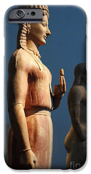 Athens iPhone Cases - Greek Sculpture Athens 1 iPhone Case by Bob Christopher