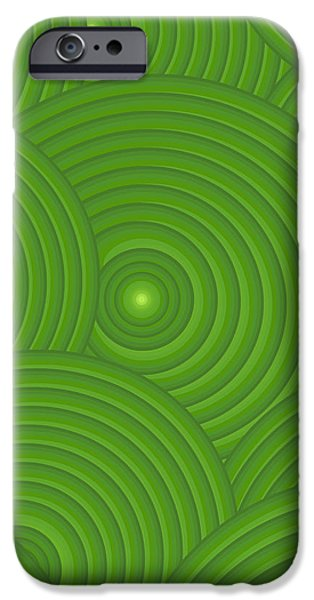 Green Abstract iPhone Case by Frank Tschakert