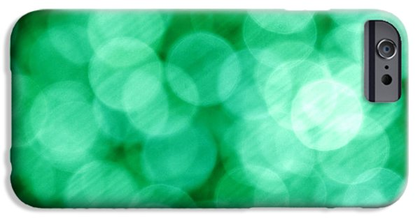 Business iPhone Cases - Green Abstract iPhone Case by Tony Cordoza