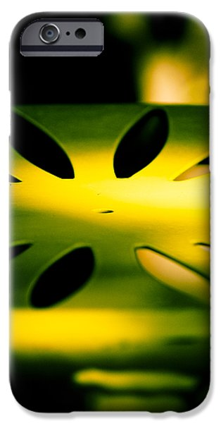 Green and Gold iPhone Case by Christi Kraft