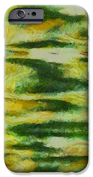 Green And Yellow Abstract iPhone Case by Dan Sproul