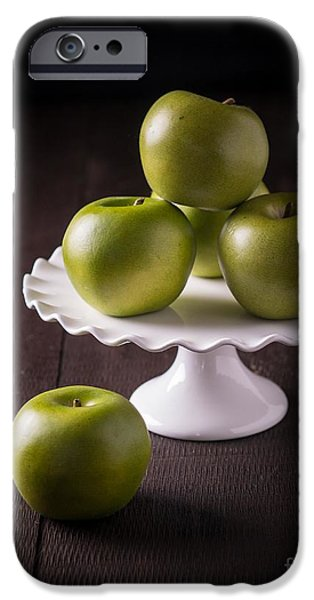 Still Life iPhone Cases - Green Apple Still Life iPhone Case by Edward Fielding