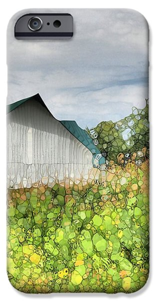 Green Barn And Cornfield iPhone Case by Dan Sproul