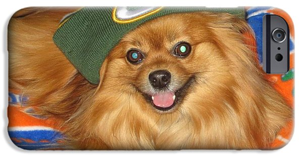 Dogs iPhone Cases - Green Bay Fan iPhone Case by Tim Townsend