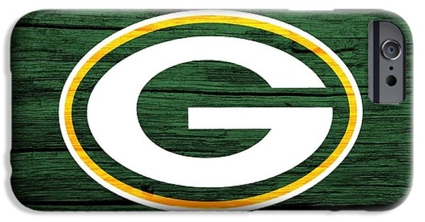 Champion Mixed Media iPhone Cases - Green Bay Packers Barn Door iPhone Case by Dan Sproul
