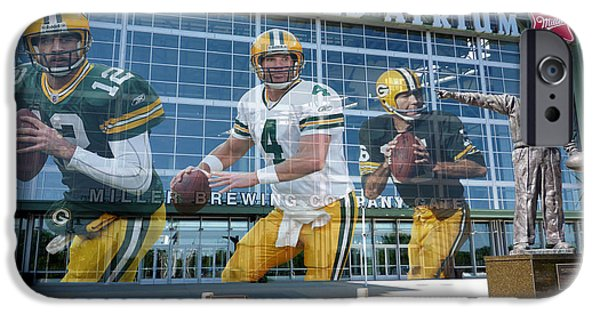 Shoe iPhone Cases - Green Bay Packers Lambeau Field iPhone Case by Joe Hamilton