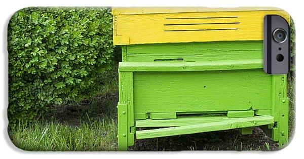 Village iPhone Cases - Green beehive iPhone Case by Deyan Georgiev