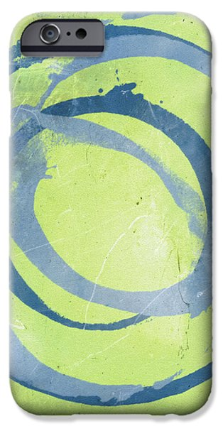 Green Blue iPhone Case by Julie Niemela