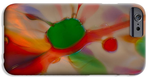 Nature Abstracts Glass iPhone Cases - Green Butterfly iPhone Case by Omaste Witkowski