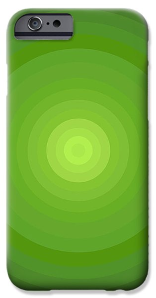 Green Circles iPhone Case by Frank Tschakert