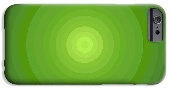 Disc iPhone Cases - Green Circles iPhone Case by Frank Tschakert