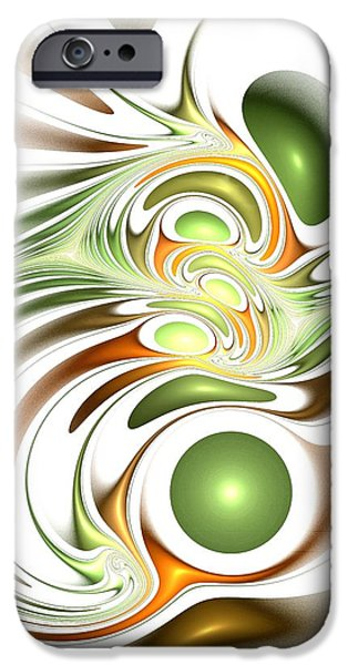 Concept Mixed Media iPhone Cases - Green Creation iPhone Case by Anastasiya Malakhova