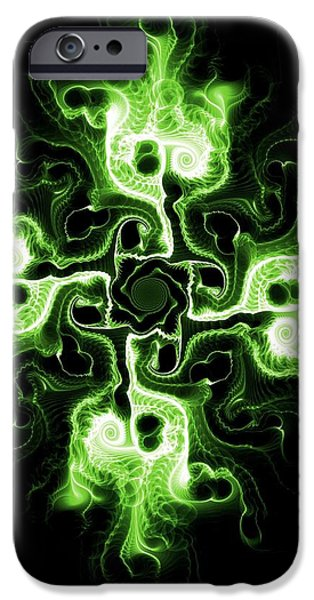 Atonement iPhone Cases - Green Cross iPhone Case by Anastasiya Malakhova