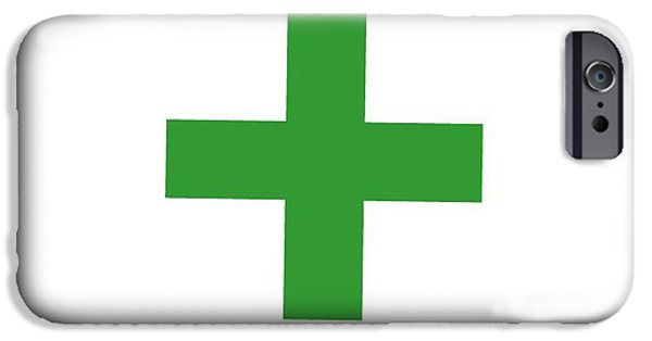 Flag iPhone Cases - Green Cross Flag iPhone Case by Frederick Holiday