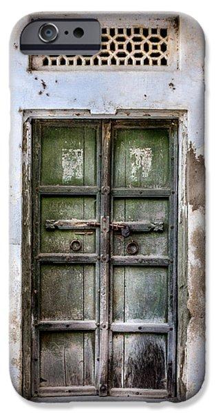 Green door iPhone Case by Catherine Arnas