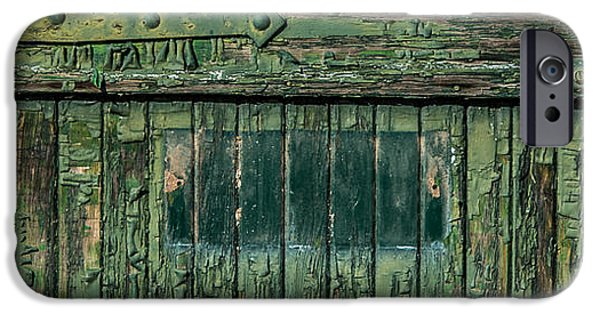 Rust iPhone Cases - Green Door iPhone Case by Paul Freidlund