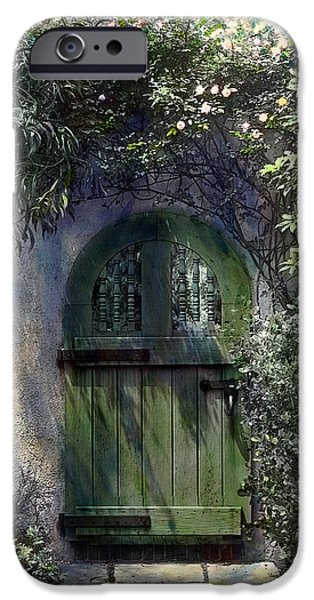 Green Door iPhone Case by Terry Reynoldson