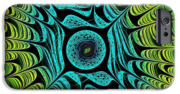 Computer Mixed Media iPhone Cases - Green Dragon Eye iPhone Case by Anastasiya Malakhova