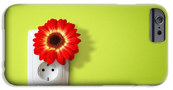 Outlet iPhone Cases - Green Electricity iPhone Case by Carlos Caetano