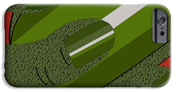 Gray Hair iPhone Cases - Green Fickle Fingers of Faith iPhone Case by Charles Smith