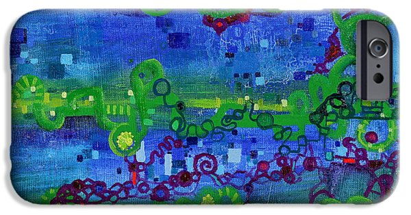 Diagram Paintings iPhone Cases - Green Functions iPhone Case by Regina Valluzzi