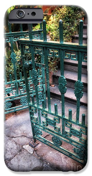 Chatham iPhone Cases - Green Gate of Savannah iPhone Case by John Rizzuto