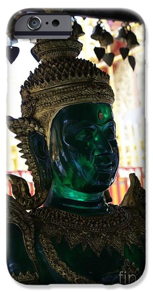 Buddhist iPhone Cases - Green Glass Buddha iPhone Case by Gregory Smith