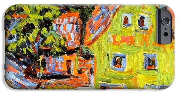1907 Paintings iPhone Cases - Green House iPhone Case by Ernst Ludwig Kirchner