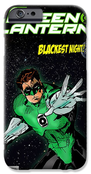 Book Cover Art iPhone Cases - Green Lantern iPhone Case by Mark Rogan