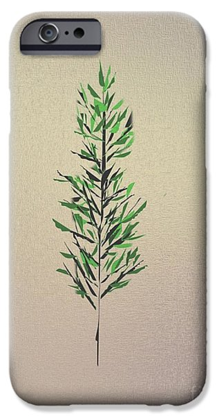 Green Leaves iPhone Case by John Krakora