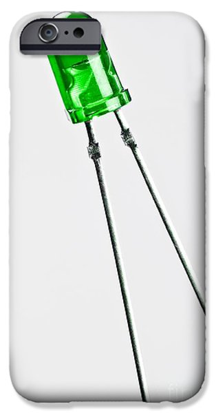 Non-integrated iPhone Cases - Green Led iPhone Case by Martyn F. Chillmaid