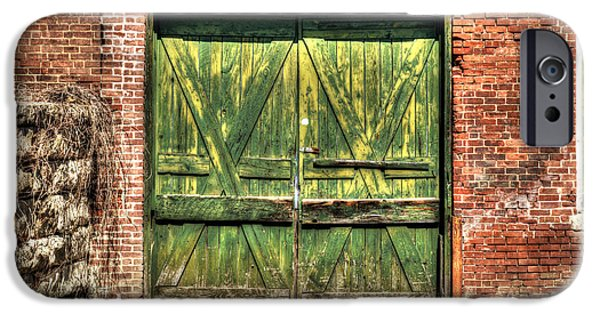 Nineteenth iPhone Cases - Green Loading Dock Door - Housatonic iPhone Case by Geoffrey Coelho