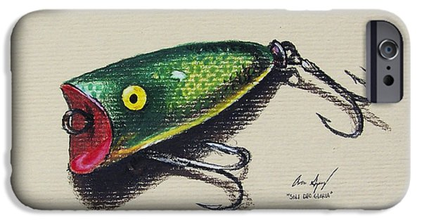 Walleye iPhone Cases - Green Lure iPhone Case by Aaron Spong