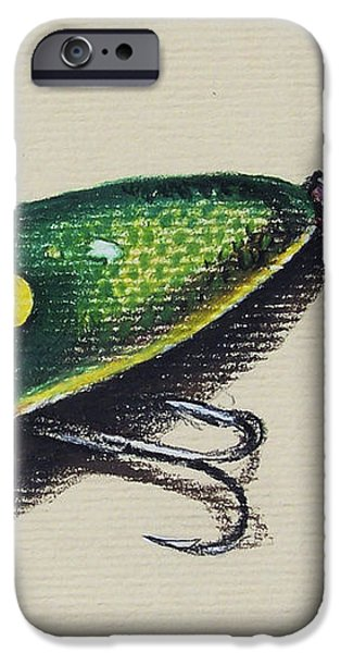 Green Lure iPhone Case by Aaron Spong