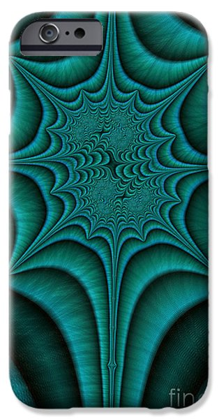 Fractal iPhone Cases - Green Malachite Abstract iPhone Case by John Edwards