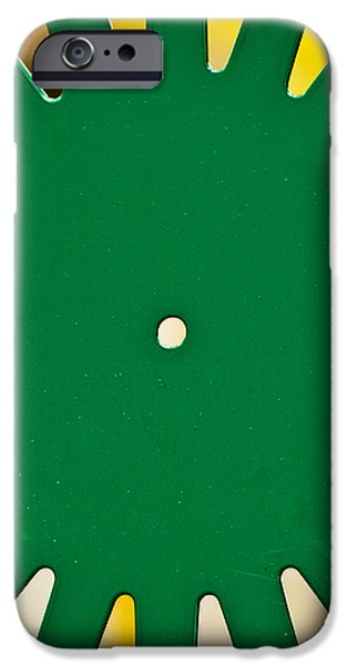 Green Memorial Union Chair iPhone Case by Christi Kraft