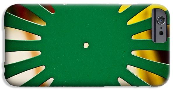 Christi Kraft iPhone Cases - Green Memorial Union Chair iPhone Case by Christi Kraft