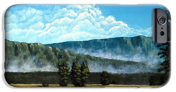 Pines iPhone Cases - Green Mist iPhone Case by Michael Dillon