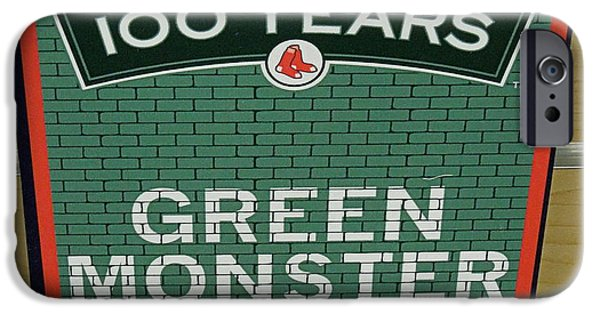 Fenway Park iPhone Cases - Green Monsta Seats iPhone Case by Caroline Stella
