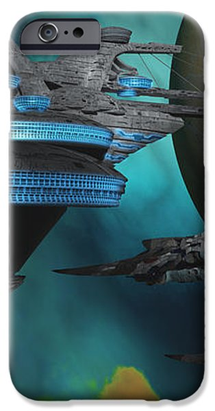 Green Nebular Expanse iPhone Case by Corey Ford