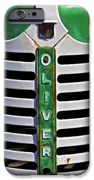 Harts iPhone Cases - Green Oliver Farm Tractor iPhone Case by David Letts