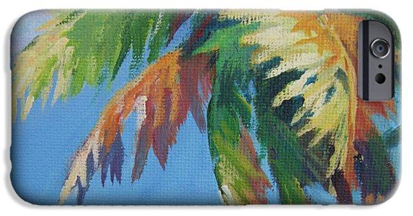 Usvi iPhone Cases - Green Palm  iPhone Case by John Clark