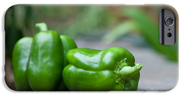 Kaypickens.com iPhone Cases - Green Peppers iPhone Case by Kay Pickens
